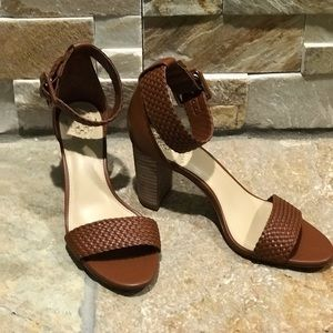 "NEW, Vince Camuto, ""Maghen"" brown leather heels"
